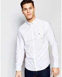 Tommy Hilfiger - Oxford Shirt In New York Regular Fit In White for Men - Lyst