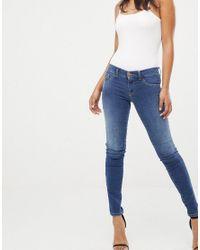 a1a75543 DIESEL Livier Low Waist Super Skinny Jean in Blue - Lyst