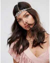 ASOS - Metallic Bridal Vintage Stone Flower Hair Chain - Lyst