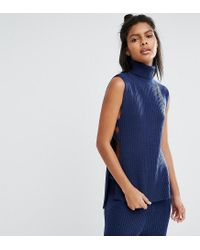Micha Lounge | Blue Polo Neck Jumper | Lyst