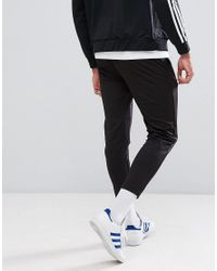 ASOS - Black Skinny Jogger In Poly Tricot for Men - Lyst