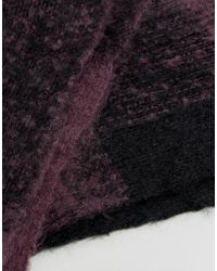ASOS - Oversized Snood In Purple And Black for Men - Lyst