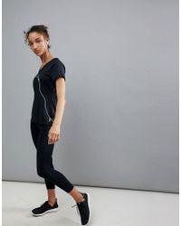 Esprit - Black Reflective Gym Top - Lyst
