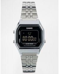 G-Shock | Metallic La680wea Mini Digital Black Face Watch | Lyst
