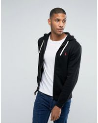 b5b7429cb Polo Ralph Lauren Plain Jersey Zip Up Hoodie In Black in Black for ...