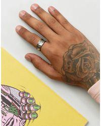 ASOS - Metallic Geo- Design Ring In Gold for Men - Lyst