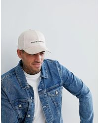 Lyst - ASOS Asos Baseball Cap In Beige Faux Suede   Embroidered ... 910d18663