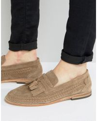 H by Hudson   Natural Zair Suede Tassel Loafers for Men   Lyst