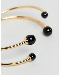 ASOS - Metallic Ball End Cuff Bracelet - Lyst