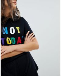 Adolescent Clothing - Black Not Today Short Pajama Set - Lyst
