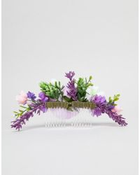 ASOS DESIGN - Multicolor Design Occasion Spring Bloom Hair Clip - Lyst