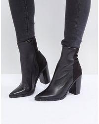 ALDO - Black Lovire Studded Point Ankle Boots - Lyst