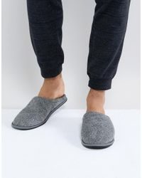 New Look - Fleece Lined Slipper In Gray for Men - Lyst