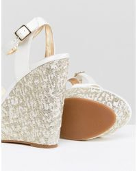 ASOS - Multicolor Hoola Bridal Wedges - Lyst