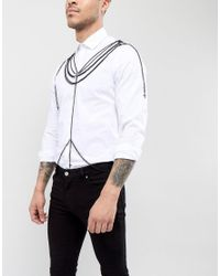 ASOS - Body Harness In Black With Crosses for Men - Lyst