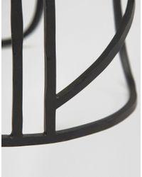 ASOS - Geometric Cage Bracelet In Matt Black for Men - Lyst