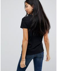 ASOS - Black Asos T-shirt With Mirror Sequin Badge Placement - Lyst