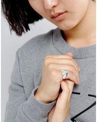 Cheap Monday | Metallic Heart Signet Ring | Lyst