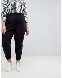 ASOS - Black Mix & Match Highwaist Cigarette Trousers - Lyst