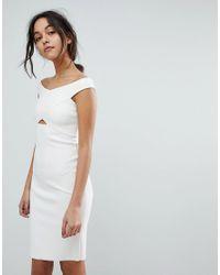 2b3229c29569 Bec & Bridge Cut Out Bodycon Dress in White - Lyst