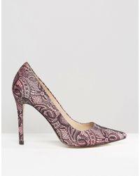 ASOS - Pink Peru Pointed High Heels - Lyst