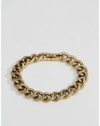 Icon Brand - Metallic Heavy Link Chain Bracelet In Burnished Gold for Men - Lyst
