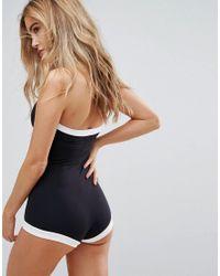 Seafolly - Black Block Party Boyleg Swimsuit - Lyst