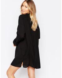 Echo - Black Beach Shirt Dress - Lyst