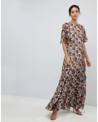 d09ad3b8b1ba Traffic People. Women's Chiffon Printed Belted Maxi Dress