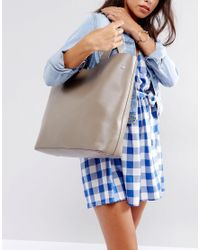 French Connection   Gray Tote Bag With Removable Pouch   Lyst