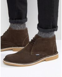 Lambretta | Lambratta Desert Boots In Brown Suede for Men | Lyst