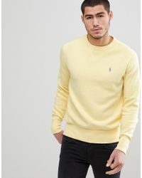 7ca1cc14d Polo Ralph Lauren - Crewneck Sweatshirt Polo Player In Washed Yellow for Men  - Lyst