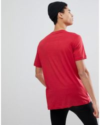 Love Moschino Red Printed Logo T-shirt for men