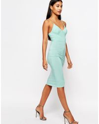 Club L | Blue Midi Dress With Cami Strap | Lyst