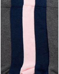 ASOS - Blue Socks In Pink Grey & Navy 5 Pack for Men - Lyst