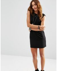 ASOS | Black Sleeveless Mini Dress With Cowl Back | Lyst