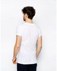 American Apparel - White V-neck T-shirt In Sheer Jersey for Men - Lyst