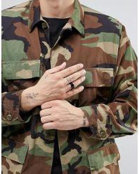 ASOS | Signet Ring In Black for Men | Lyst