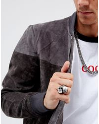 Steve Madden - Metallic Skull Ring for Men - Lyst