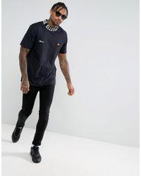 Ellesse - T-shirt With Logo High Neck In Black for Men - Lyst