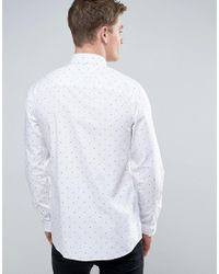 Jack & Jones | White Core Shirt In Slim Fit With All Over Ditsy Print for Men | Lyst
