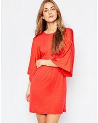 ASOS | Black T-shirt Dress With Kimono Sleeves | Lyst