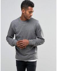 D-Struct | Gray Split Bottom Marl Sweater for Men | Lyst