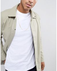 ASOS - Metallic Design Sterling Silver Chain With Gold Plating for Men - Lyst