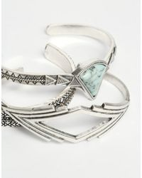 ALDO - Blue Ldo Drowiel Multipack Cuff Bracelets - Lyst