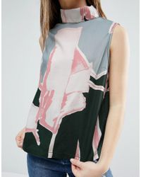 WÅVEN - Multicolor Graphic High Neck Top - Lyst