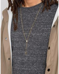Mister - Metallic Rosary Plus Necklace In Gold for Men - Lyst