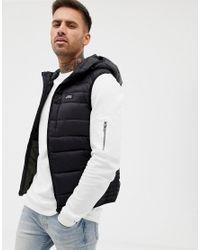Pull&Bear - Padded Vest In Black for Men - Lyst