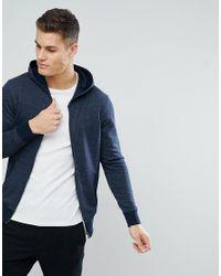 SELECTED - Blue Hoodie for Men - Lyst