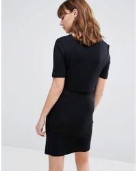 New Look | Black Double Layered Nursing Dress | Lyst